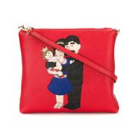 Dolce & Gabbana Bolsa Transversal De Couro - Vermelho