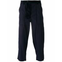 Comme Des Garçons Shirt Calça Cropped De Alfaiataria - Azul