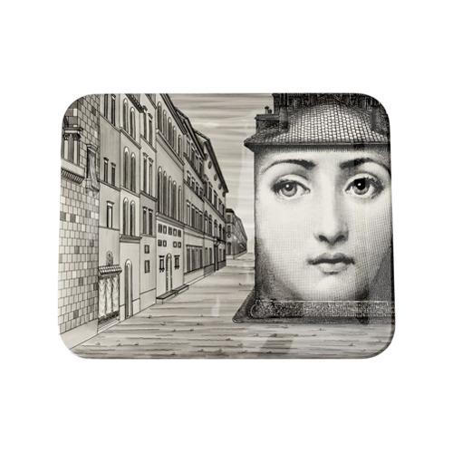Fornasetti Don Giovanni tray - Preto
