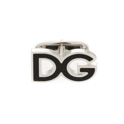 Imagem de Dolce & Gabbana Abotoaduras com logo - Metálico