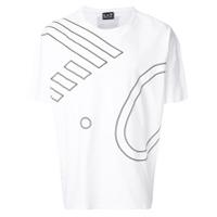 Ea7 Emporio Armani Camiseta Com Estampa Gráfica - Branco