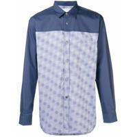 Comme Des Garçons Shirt Camisa 'dobby Dot' - Azul