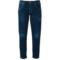 Citizens Of Humanity Calça Jeans Cropped Slim Fit - Azul