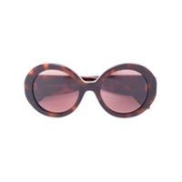 Alexander Mcqueen Eyewear Óculos De Sol Redondo - Brown