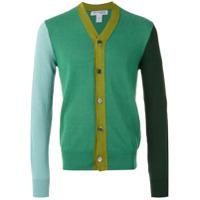 Comme Des Garçons Shirt Boys Cardigã Color Block - Green