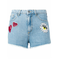 Chiara Ferragni Shorts Jeans 'flirting' - Azul