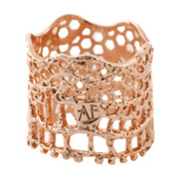 Aurelie Bidermann Anel Modelo 'vintage Lace' - Metallic