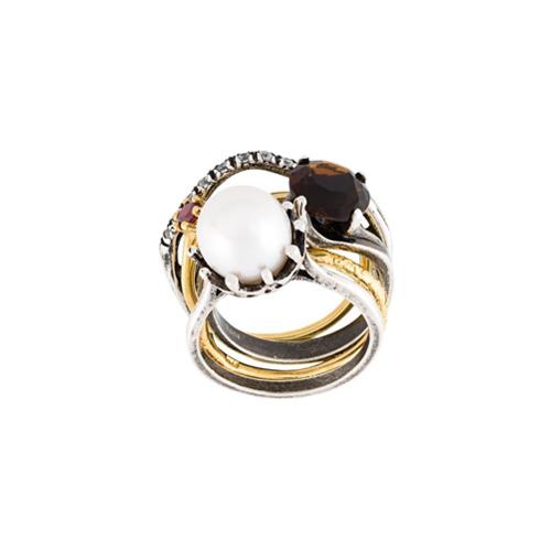 Imagem de Iosselliani Conjunto de anéis 'Silver Heritage' - Metálico