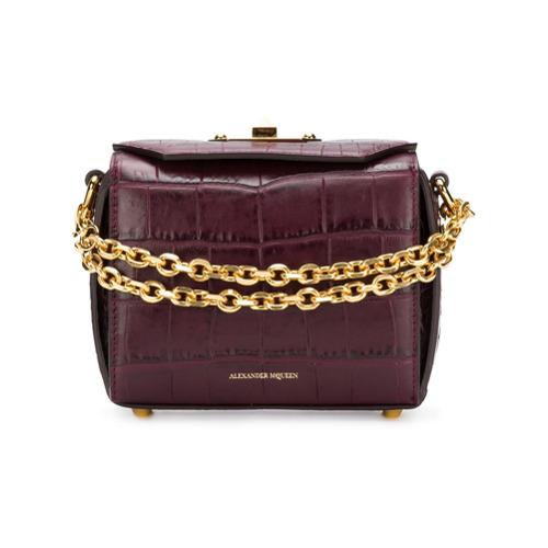 Imagem de Alexander McQueen Bolsa 'Box' de couro - Rosa
