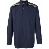 Comme Des Garçons Shirt Camisa Com Detalhe De Aplicação - Azul