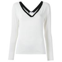 Corporeum Blusa Decote Em V - Branco
