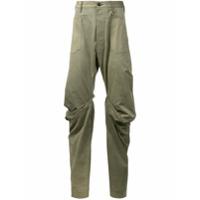 Andreas Kronthaler For Vivienne Westwood Calça Jeans Com Drapeados - Green