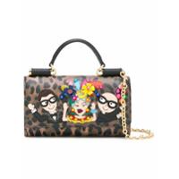 Dolce & Gabbana Bolsa Transversal Mini De Couro - Marrom