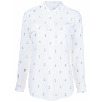 Equipment Camisa De Seda Estampada - Branco