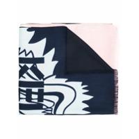 Kenzo Cachecol Com Estampa 'tiger' - Pink & Purple