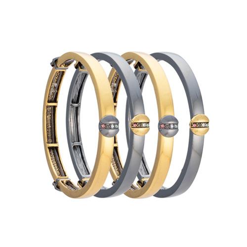 Imagem de Camila Klein Kit 4 pulseiras - Metallic