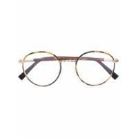Cutler & Gross Óculos Tartaruga Com Armação Arredondada - Brown
