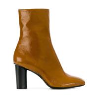 Barbara Bui Ankle Boot De Couro Envernizado - Brown