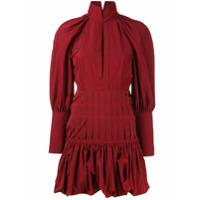 Ellery Vestido Mangas Bufantes - Vermelho