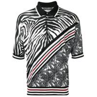 Dolce & Gabbana Camisa Polo De Seda Listrada - Preto