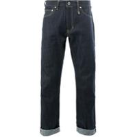 Fdmtl Calça Jeans Reta Cropped - Azul