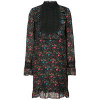 Anna Sui Vestido Com Jabô - Preto