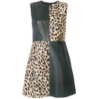 Diane Von Furstenberg Vestido Color Block - Preto