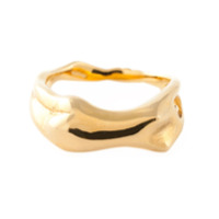 Aurelie Bidermann Anel Banhado A Ouro 18Kt - Metallic