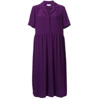 Carven Vestido Com Decote Em V - Pink & Purple