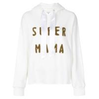 Forte Dei Marmi Couture Blusa De Moletom Com Capuz 'super Mama' - Branco