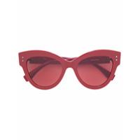 Fendi Eyewear Óculos De Sol Gatinho 'peekaboo' - Vermelho