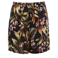 Faith Connexion Short Floral De Seda - Preto