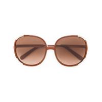 Chloé Eyewear Óculos De Sol Oversized - Brown