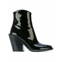 A.f.vandevorst Ankle Boot De Couro Envernizado - Preto