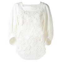 Chloé Blusa Com Aplicação Floral - Branco