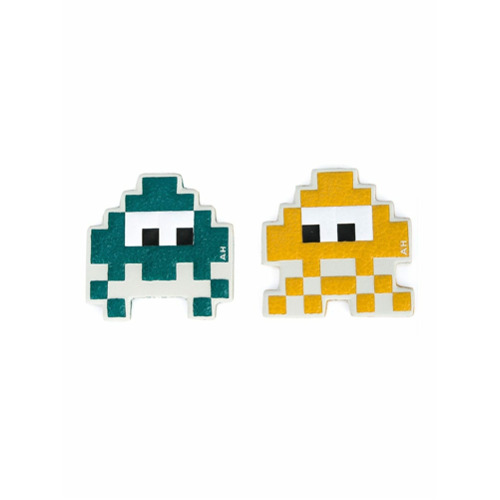 Imagem de Anya Hindmarch Chaveiros 'Space Invaders' - Amarelo E Laranja