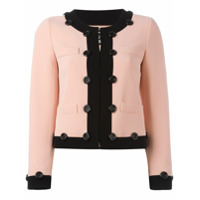 Boutique Moschino Jaqueta Cropped - Pink & Purple