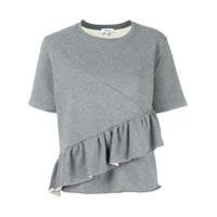 Carven Blusa De Moletom Com Detalhe De Babado - Grey