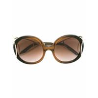Chloé Eyewear Óculos De Sol 'jackson' - Brown