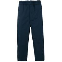 Comme Des Garçons Shirt Calça De Alfaiataria Cropped - Azul