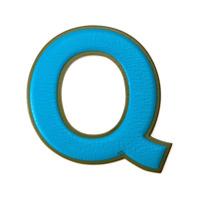 Anya Hindmarch Sticker 'q' De Couro - Azul