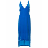 Dion Lee Vestido De Veludo Assimétrico - Azul