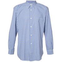 Comme Des Garçons Shirt Camisa Xadrez - Azul