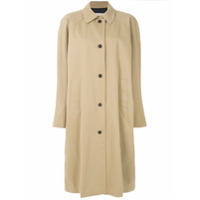 Push Button Trench Coat Oversized - Nude & Neutrals