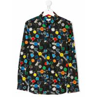 Paul Smith Junior Camisa Estampada - Preto