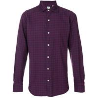 Finamore 1925 Napoli Camisa Xadrez - Pink & Purple
