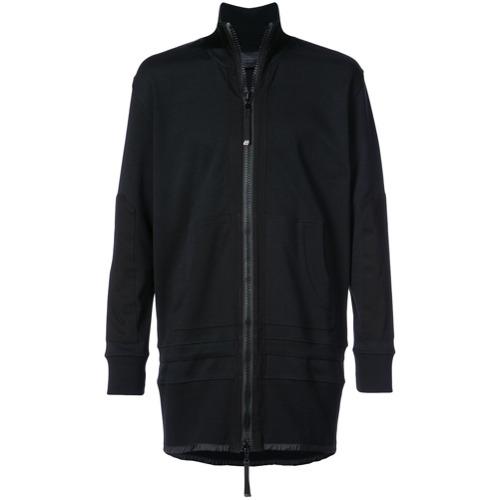 Jaqueta túnica preta em algodão stretch, Diesel Black Gold.