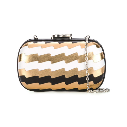 Imagem de Corto Moltedo 'Susan C Star' pleated clutch - Estampado