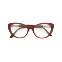 Bulgari Armação De Óculos Gatinho - Pink & Purple