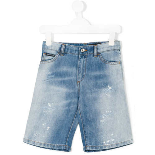 Imagem de Dolce & Gabbana Kids Bermuda jeans - Azul